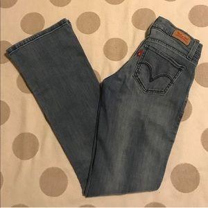 Levi's 524 Super Low Boot Cut Jeans light wash